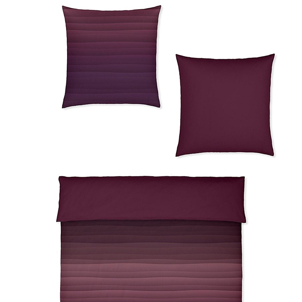 covered bettw sche degrad marsala 135 x 200 cm bett und so. Black Bedroom Furniture Sets. Home Design Ideas