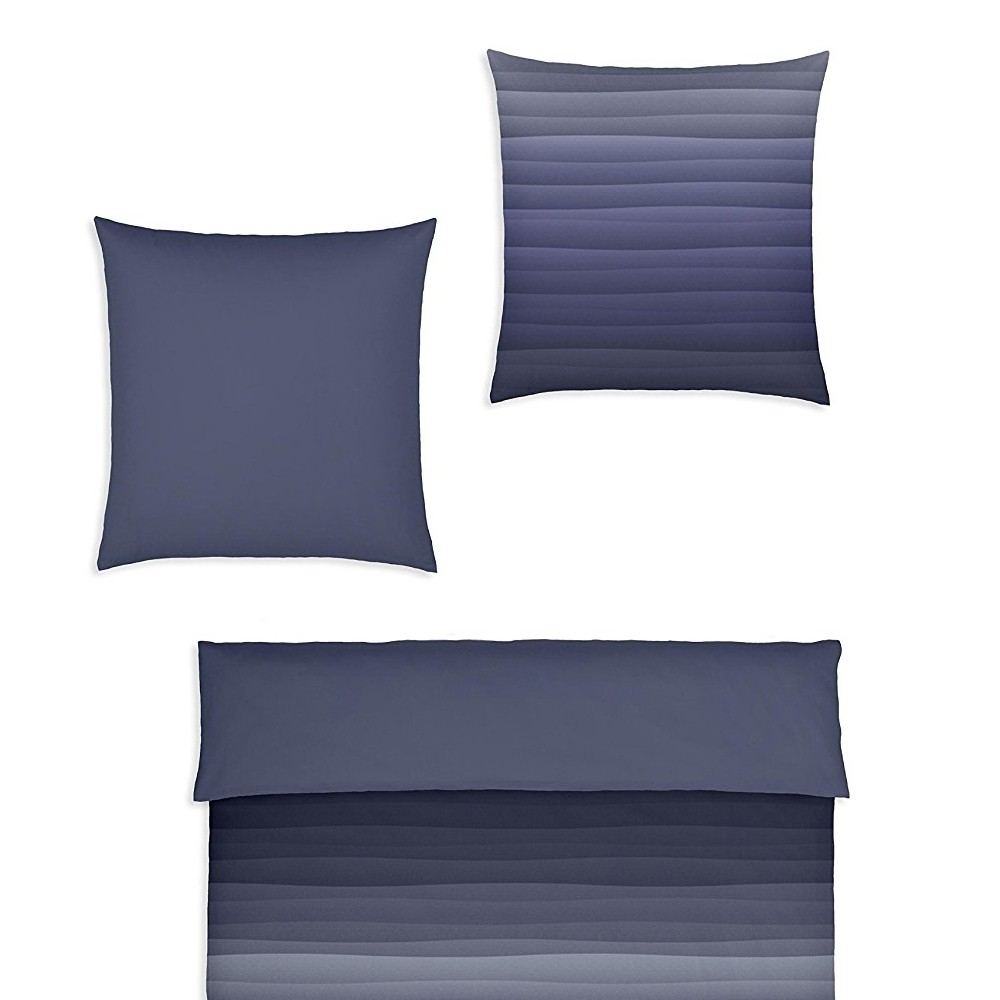 covered bettw sche degrad smoky blue 155 x 220 cm bett. Black Bedroom Furniture Sets. Home Design Ideas
