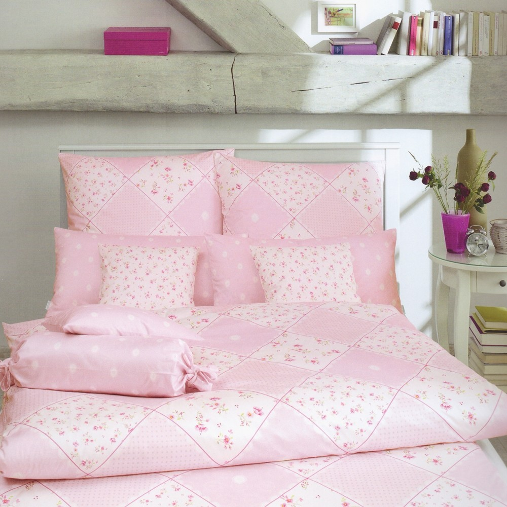 estella bettw sche belle rosa 135 x 200 cm bett und so. Black Bedroom Furniture Sets. Home Design Ideas