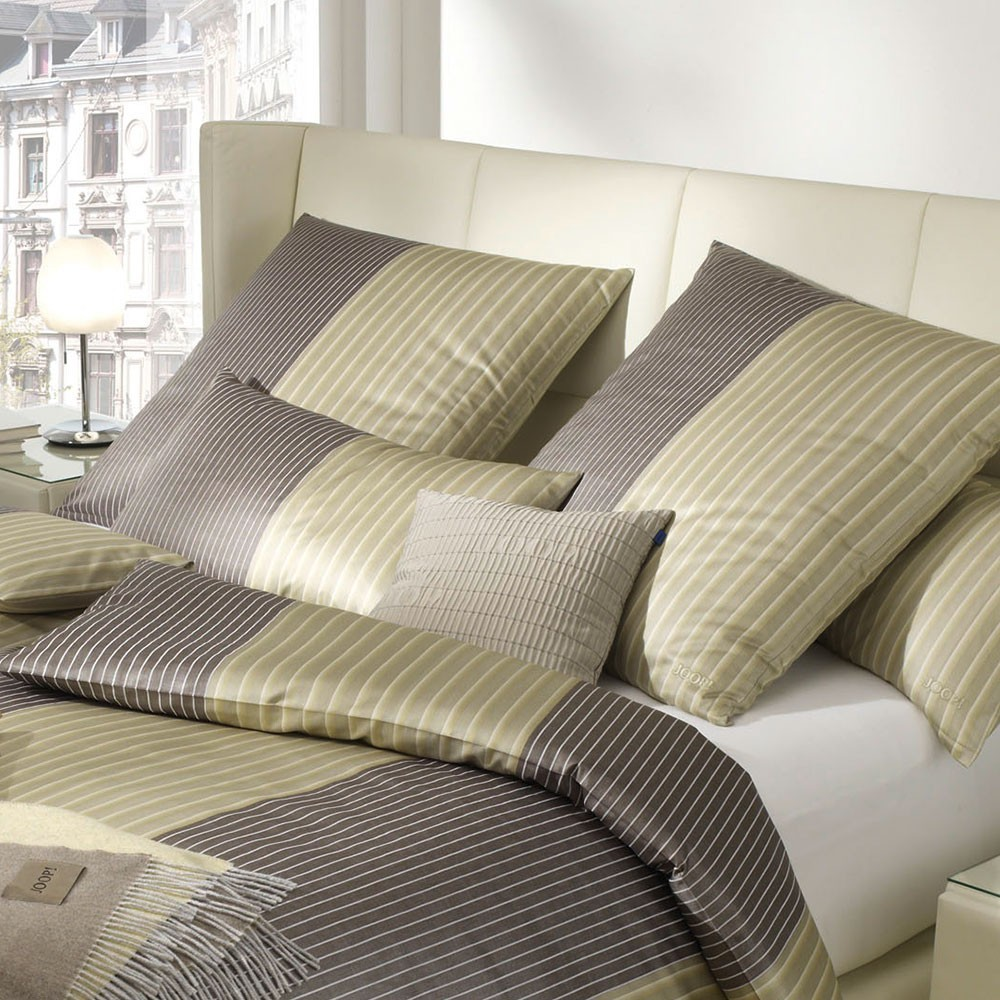 Joop Bettwäsche Double Stripes Messing 155 X 220 80 X 80 Bett