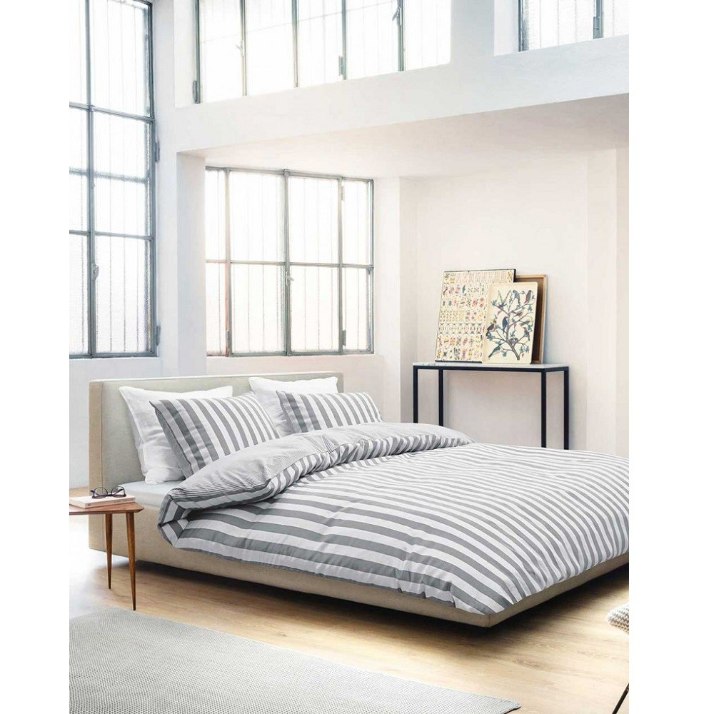 marc o 39 polo kissenh lle zur bettw sche classic stripe grey 40x40 cm bett und so. Black Bedroom Furniture Sets. Home Design Ideas