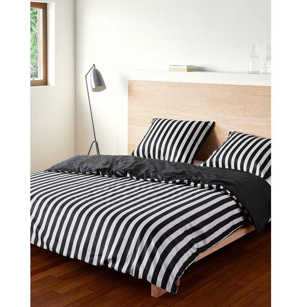 marc o 39 polo bettw sche classic stripe black 155x220 cm bett und so. Black Bedroom Furniture Sets. Home Design Ideas