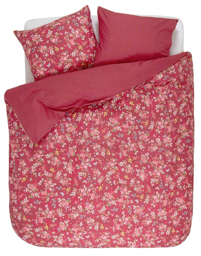 pip studio chinese rose bouquet rote bettw sche in bergr sse 155 x 220 80 x 80 cm bett und. Black Bedroom Furniture Sets. Home Design Ideas