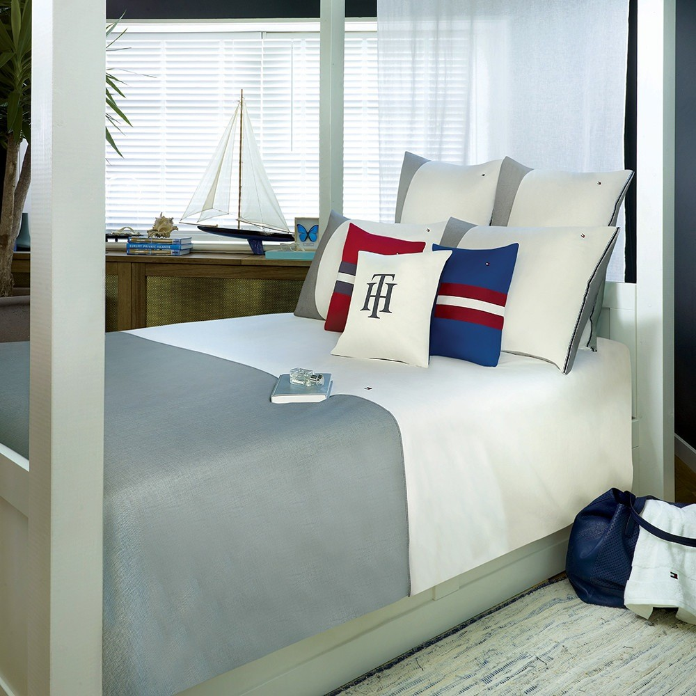 tommy hilfiger bettw sche grey ortail 135x200 cm bett und so. Black Bedroom Furniture Sets. Home Design Ideas