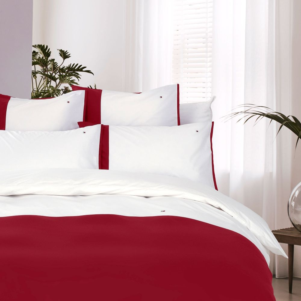 tommy hilfiger bettw sche red ortail 200x200 cm bett und so. Black Bedroom Furniture Sets. Home Design Ideas