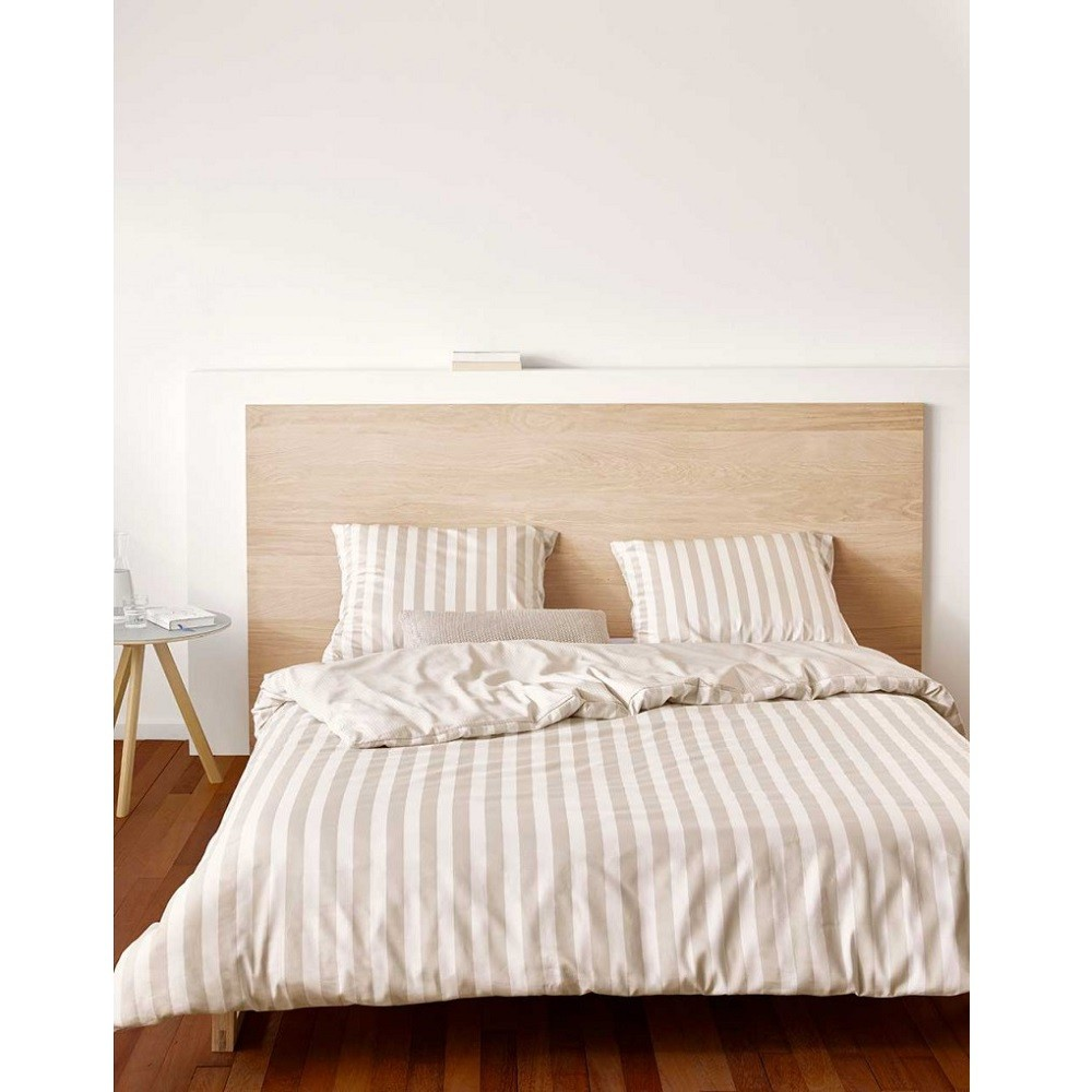 marc o 39 polo bettw sche classic stripe oatmeal 200x220 cm. Black Bedroom Furniture Sets. Home Design Ideas