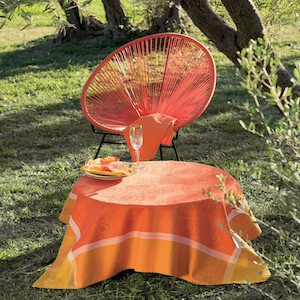 Tischwäsche des Designs SUNSHINE ORANGE